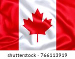 canada fabric flag | Shutterstock . vector #766113919