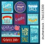 christmas winter sale vector... | Shutterstock .eps vector #766115200
