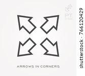 line icon arrows in corners