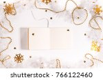christmas background made from... | Shutterstock . vector #766122460