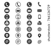 contact info icon. phone... | Shutterstock .eps vector #766126729