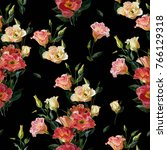 seamless floral pattern in... | Shutterstock . vector #766129318