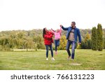 happy young family having fun... | Shutterstock . vector #766131223