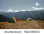 camping in georgia tusheti | Shutterstock . vector #766140010