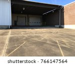 unoccupied loading bay with... | Shutterstock . vector #766147564