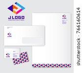 j logo. j monograms. colored... | Shutterstock .eps vector #766160614