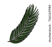 palm leaf isolated icon | Shutterstock .eps vector #766165984