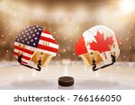 low angle view of hockey... | Shutterstock . vector #766166050