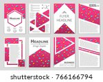 abstract vector layout... | Shutterstock .eps vector #766166794