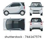 vector compact small car. small ... | Shutterstock .eps vector #766167574