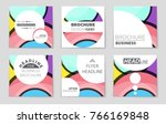 abstract vector layout... | Shutterstock .eps vector #766169848