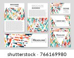abstract vector layout... | Shutterstock .eps vector #766169980