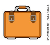 portfolio briefcase isolated... | Shutterstock .eps vector #766173616