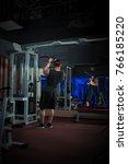 young male athlete bodybuilder... | Shutterstock . vector #766185220