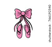 color ballet shoes style with... | Shutterstock .eps vector #766192540