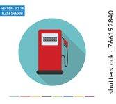 gas station   fuel pump flat... | Shutterstock .eps vector #766192840
