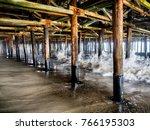 Waves Crashing The Pillars...
