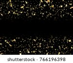 Gold Glitter Confeti Falling...