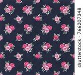 seamless floral vintage... | Shutterstock .eps vector #766207348