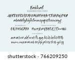 baikal handwritten calligraphic ... | Shutterstock .eps vector #766209250