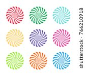 set of colorful peppermint... | Shutterstock .eps vector #766210918