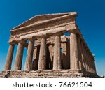 valley of temples  near... | Shutterstock . vector #76621504