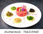 fresh salmon and tuna tartare....