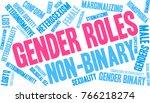 gender roles word cloud on a... | Shutterstock .eps vector #766218274