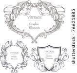 vector set  calligraphic design ... | Shutterstock .eps vector #76621885