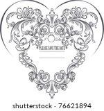 vintage heart shape background | Shutterstock .eps vector #76621894