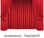 background with luxury scarlet... | Shutterstock .eps vector #766226674