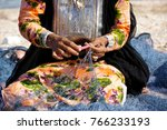 omani woman in traditional... | Shutterstock . vector #766233193