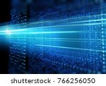 futuristic blue circuit pattern ... | Shutterstock . vector #766256050