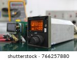 Small photo of Automatic Direction Finder (ADF) control unit with maintenance ,Navigation system ,Avionics equipment.