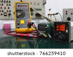 Small photo of Mutimeter for Automatic Direction Finder (ADF) control unit with maintenance.
