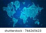 digital data network technology ... | Shutterstock . vector #766265623