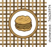 creampuff pastry lasso rope... | Shutterstock .eps vector #766265974