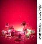 modern christmas background... | Shutterstock .eps vector #766276900