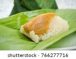 thai food desserts  sticky rice ... | Shutterstock . vector #766277716