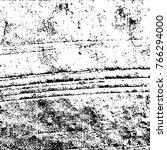 grunge black and white pattern... | Shutterstock .eps vector #766294000