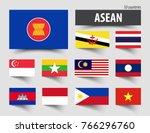 flag of asean  association of... | Shutterstock .eps vector #766296760