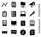 origami style icon set   graph... | Shutterstock .eps vector #766301443