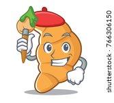 artist croissant character...   Shutterstock .eps vector #766306150