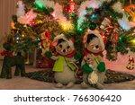 decorated indoor christmas tree ...   Shutterstock . vector #766306420