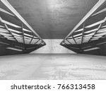 dark concrete empty room.... | Shutterstock . vector #766313458