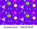 memphis seamless pattern 80's... | Shutterstock .eps vector #766327849