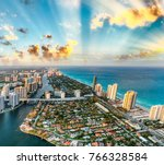 Miami Beach Coastline As Seen...