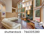 luxurious family room  open... | Shutterstock . vector #766335280