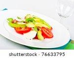 italian style avocado  tomato... | Shutterstock . vector #76633795