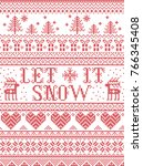 seamless let it snow... | Shutterstock .eps vector #766345408